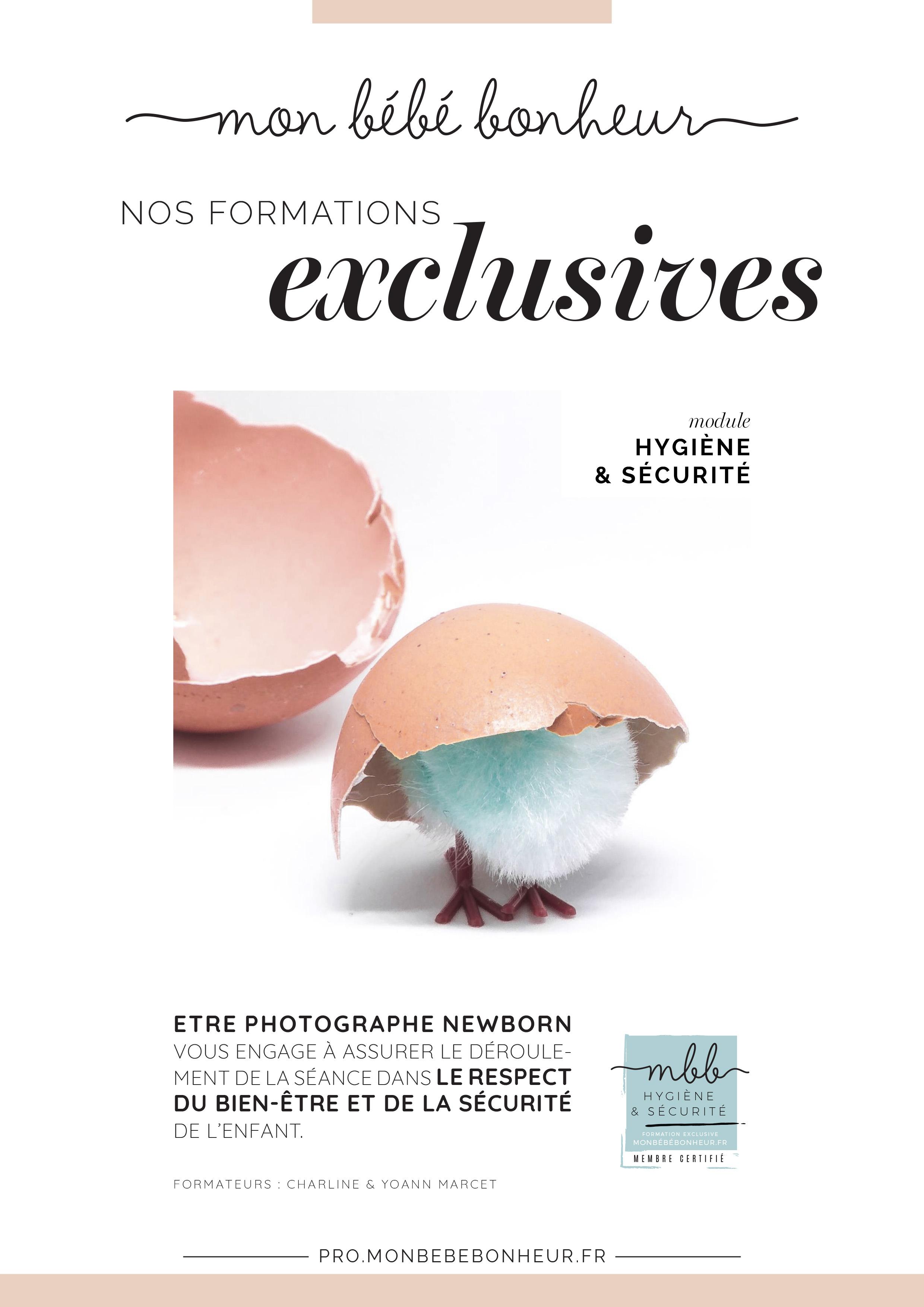 Formations photographes nouveau-nés : HYGIÈNE / SÉCURITÉ ET BIEN-ÊTRE DE L'ENFANT